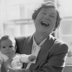 Eleanore Bennett holding a baby
